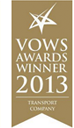 VOWS AWARDS WINNER 2013